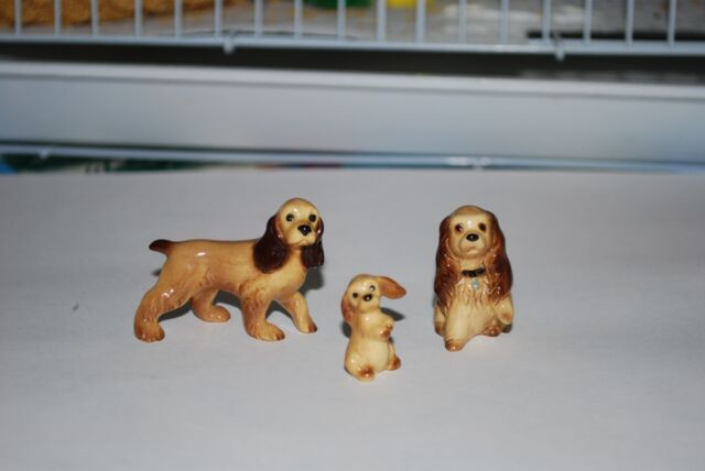 Hagen Renaker Cocker Spaniel Family