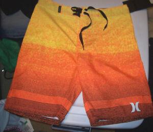 b5d81d831e2144 NEW Hurley yellow orange youth boys swim board shorts swimsuit 10 12 ...