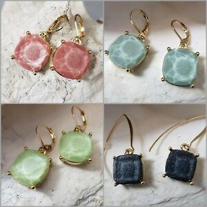 Joan-Rivers-Earrings-Goldtone-Set-of-4-Pair-of-Glittery-Simulates-Opal-Drop