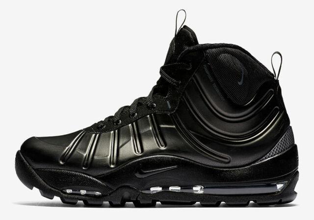 Nike Air Bakin' Posite Foamposite Boot Triple Black Size 13. 618056 001 Jordan