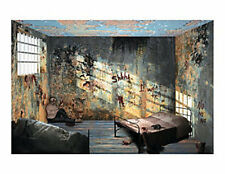 Halloween Asylum Hospital Backdrop wall covering Banner Apocalypse HAUNTED HOUSE