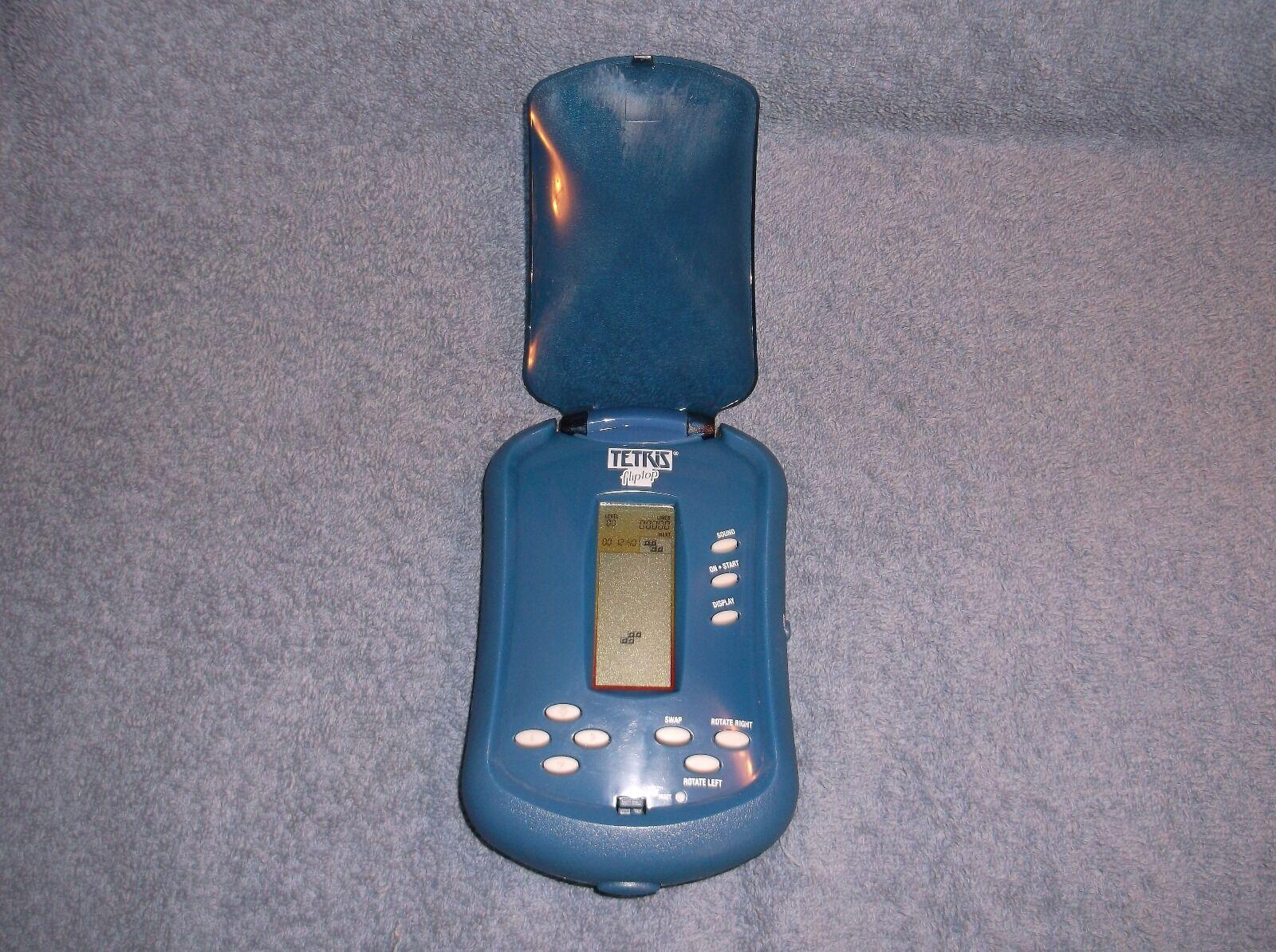 RADICA FLIPTOP LIGHTED TETRIS 2006 blueE HANDHELD ELECTRONIC GAME - NICE