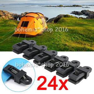 Vorzeltteppich Zelt Clips klammer Kunststoff Camping Clip Set Schwarz DE 20tlg