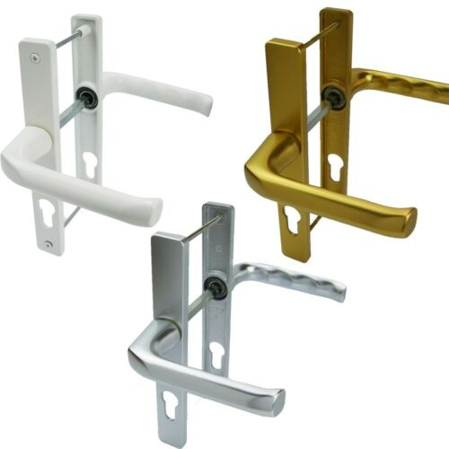 GOLD /& SILVER FINISH UPVC DOOR HANDLES 70MM PZ AVAILABLE IN WHITE