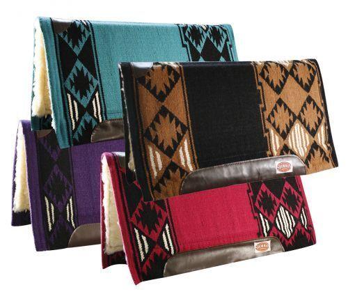Showhomme 36  x 34  nouveau Zealand Wool Memory Felt Center Western Saddle Pad