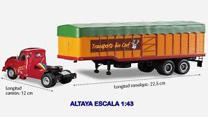 CAMION-ARTICULADO-1-43-ALTAYA-MINIATURAS-MAQUETAS-COLECCIoN-HOBBY-WILLEME-LC610T