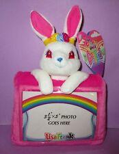 Lisa Frank Vintage Plush Bunny Rabbit Ballerina Bunnies Rose Picture Frame 1998