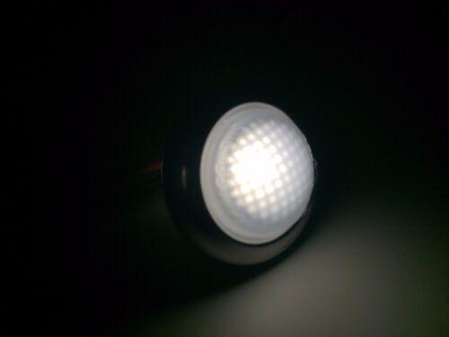 Pactrade Marine 2pcs 3//4/'/'Mini Round Warm White LED Courtesy Light Waterproof RV