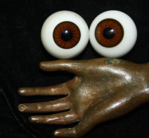 "23mm  hand-blown Antique brown Doll Glass Eyes Ø c 7//8/"""