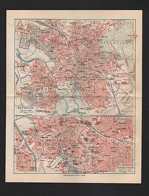 AnpassungsfäHig Landkarte Map 1926: Hannover. Innere Stadt. Umgebung. üPpiges Design
