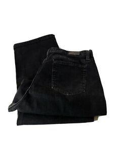 Lee-Relaxed-Straight-Leg-At-The-Waist-Black-Jeans-Size-16-Medium