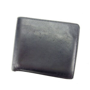 961c15f3b55e Image is loading Prada-Wallet-Purse-Bifold-Black-Woman-Authentic-Used-