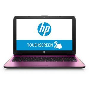 HP-15-6-034-HD-TOUCHSCREEN-Laptop-Intel-Quad-Core-2-08GHz-1TB-HDD-4GB-Webcam-PINK