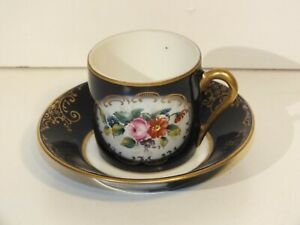 Tasse-de-collection-en-porcelaine-de-Couleuvre-Bleue-et-or