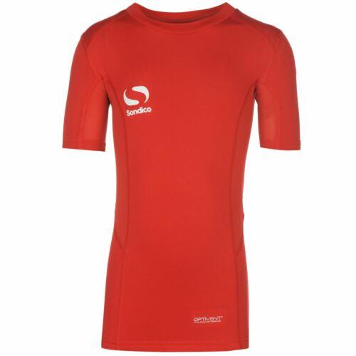 Sondico Kids Core Base Layer Top Junior Short Sleeve Compression Fit T Shirt Tee