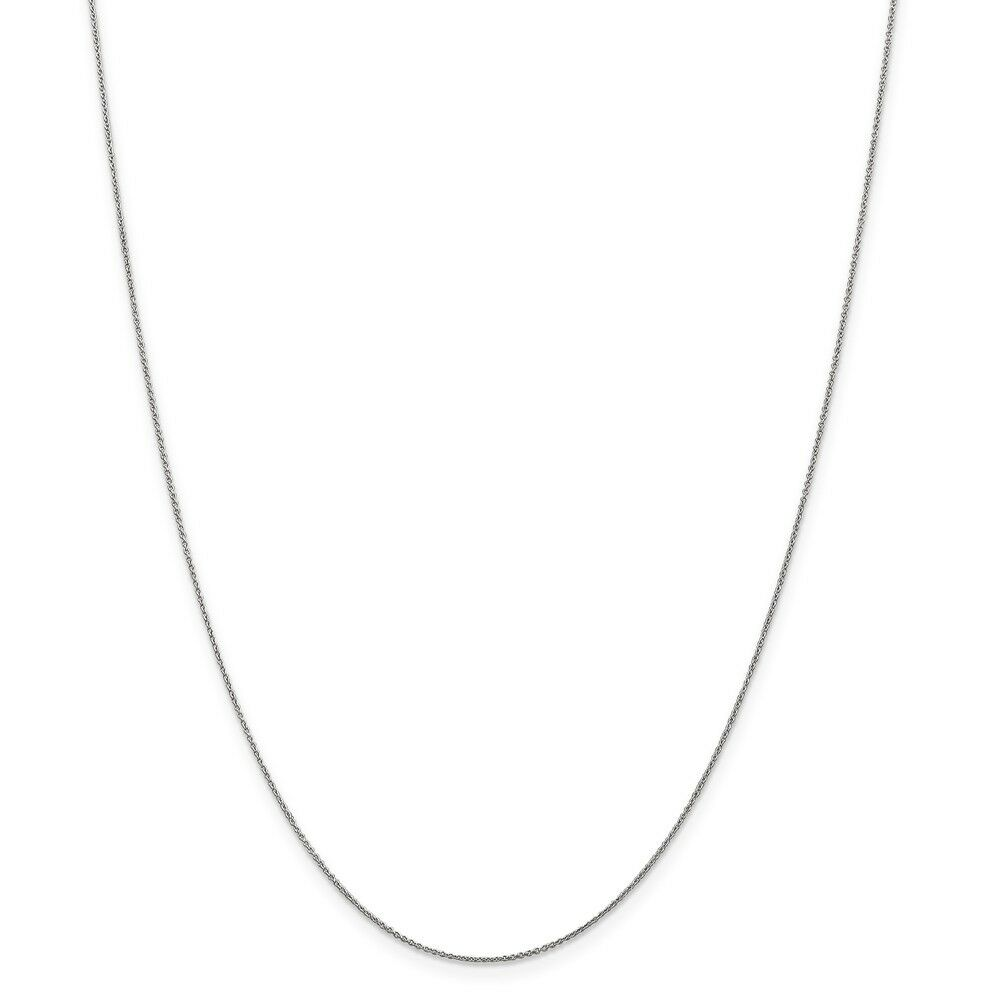 Leslie's Real 14kt White gold .8 mm Round Cable; 18 inch