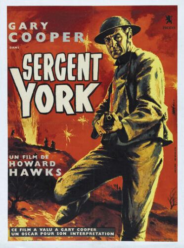 Sergeant York Gary Cooper Howard Hawks movie poster print