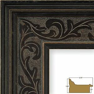Craig Frames Marais II, Black French Country Style Picture Frame