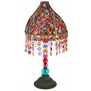 NEW UNIQUE MOROCCAN STYLE COLORFUL BEADED TABLE BEDSIDE