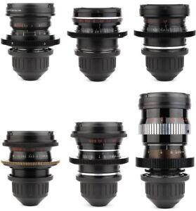 6x-LOMO-18-28-35-50-75-150-Lens-Set-w-ARRI-PL-Arriflex-Mount-URSA-Alexa-RED