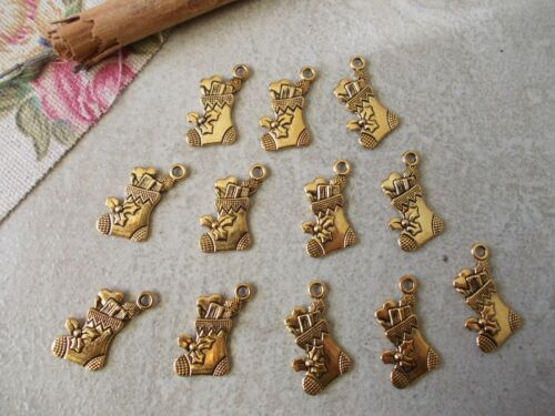 Pack of Magical Christmas Tibetan Charms,Silver or Golden color,jewellery making