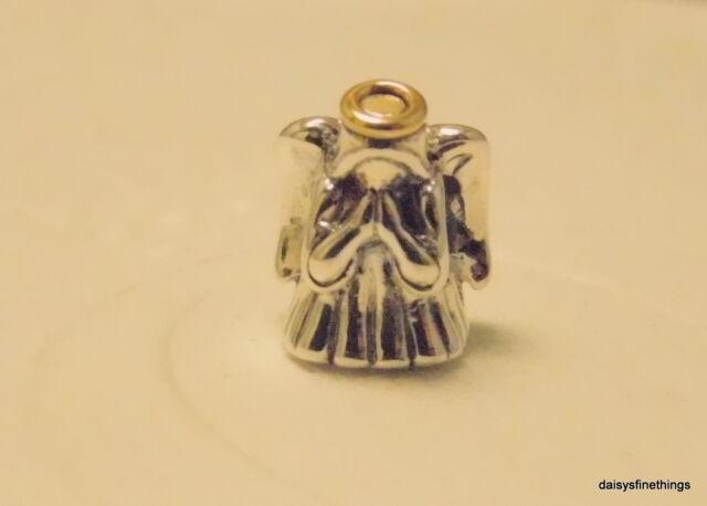 37c4ad80f Authentic PANDORA Silver 14k Gold Divine Angel Charm 791770 Retired ...