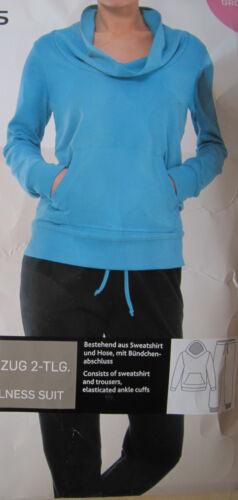 M L XL Damen Freizeitanzug Wellness Jogginganzug beere lila türkis schwarz Gr