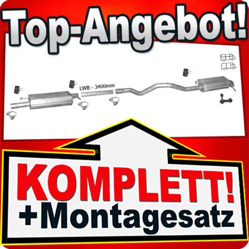 Auspuff VW T5 TRANSPORTER V 1.9 TDI LWB-Lang 2003-2009 Auspuffanlage 866