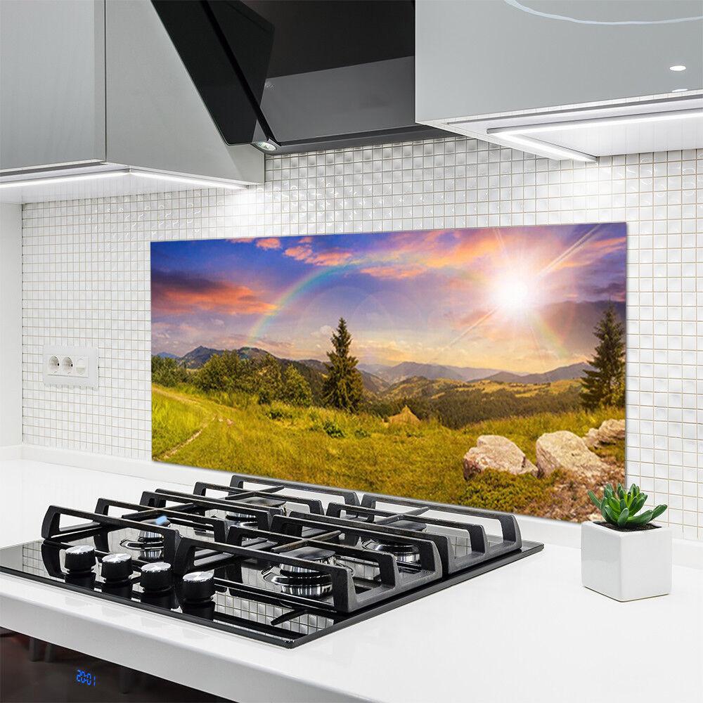 Crédence de cuisine en verre Panneau 120x60 Nature Prairie Pierres Prairie Nature Montagne d5280a