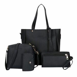4pcs-Woman-Bag-Set-Fashion-Female-Purse-Handbag-Shoulder-Bag-Messenger-Purse-Bag