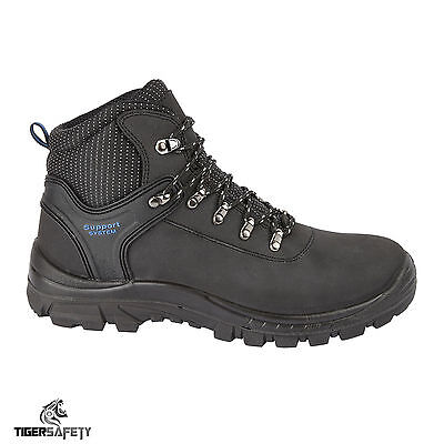 f70deaa1e43 Himalayan 2601 S1P SRC Black Leather Steel Toe Cap Hiker Style Safety Boots  PPE | eBay