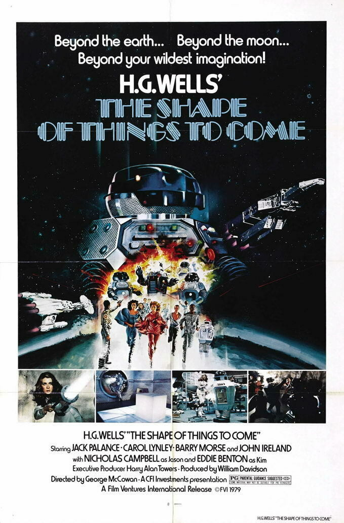 G5458 Shape Of Things To Come Movie 1 VHS Vintage Laminated Poster UK
