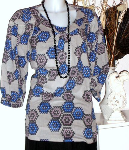 Baumwolle S Cotton Bluse 36 Blouse Bunt Nümph Tunika Neu dq0ttI