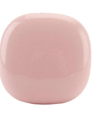 Cupboard Door Knob // Drawer Pull Shape Ceramic Pale Rose Pink Pebble Square