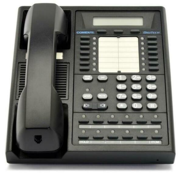 One Comdial Digitech Black Six Foot Phone Handset Cord 7700S 7714S New