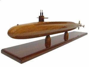 USS Ohio Class SSGN-726 Navy Submarine Mahogany Wood Wooden Sub Model