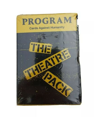 NEW Cards Against Humanity The Theatre Pack Ages 17 30 Cards Theater Program