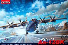 ANTONOV AN 12 BK 'CUB' (SOVIET & RUSSIAN AEROFLOT & UKRAINIAN MKGS) 1/72 RODEN