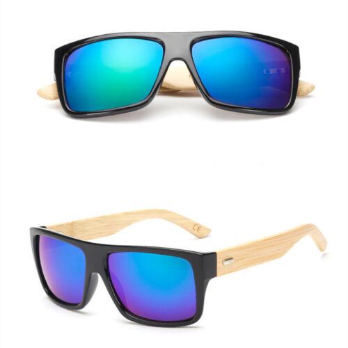 New Black Bamboo Frame Legs Sunglasses Men Women/'s Fashion Driving Glasses UV400