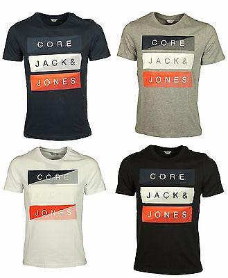 New Mens Jack /& Jones Cotton Printed Top Short Sleeve Cotton T-Shirt Summer Tee
