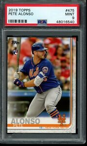 2019 Topps Series 2 Pete Alonso RC #475 PSA 9 Mint Card Rookie NYM Mets