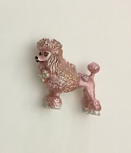 Vintage-Poodle-Dog-Brooch-In-enamel-on-metal