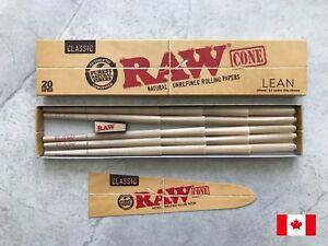 RAW-Classic-Natural-Unrefined-Hemp-Pre-Rolled-Cones-Lean-110mm-20-Cones-Pack