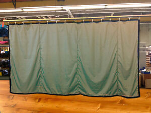 Tan Curtain/Stage Backdrop/Parti<wbr/>tion, Non-FR, 9 H x 15 W