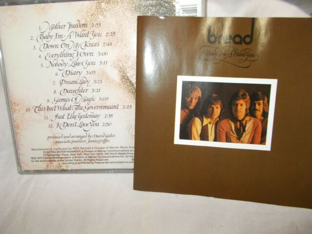 BREAD - BABY I'M A WANT YOU - OZ 12 TRK CD - VERY CLEAN