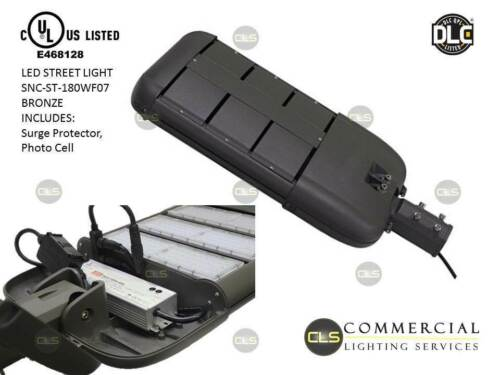 LED Parking lot Light 180 Watt Meanwell Driver Surge Protector Photo Control