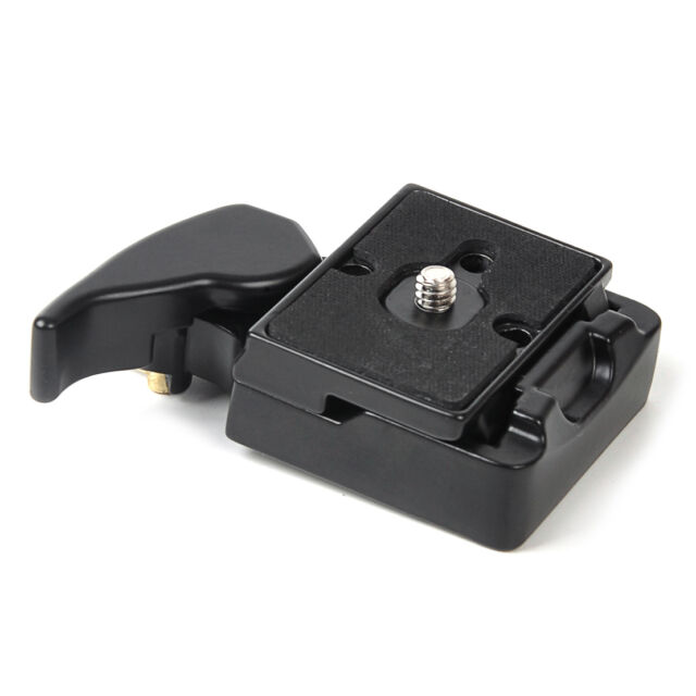 Black Camera Tripod Quick Release Plate 1.5x2 inches Mount Adapter Set 5cm x 4cm