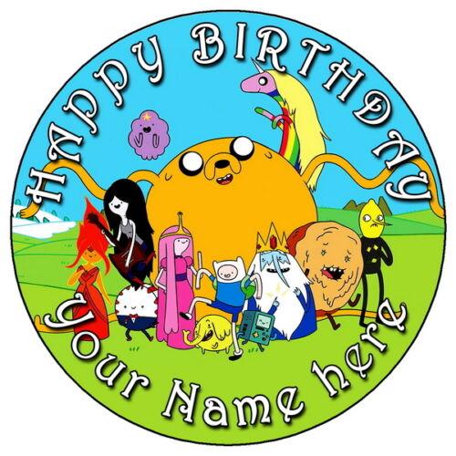 """7,5 /""""Round glaçage comestible personnalisé cake topper Adventure Time"""