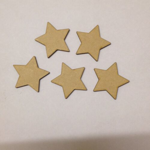 x20 Stars 5cm  Small wooden blank craft shapes