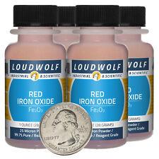 Iron Oxide Red 4 Oz 4 Bottles 997 Pure Reagent Grade 25 Micron Powder